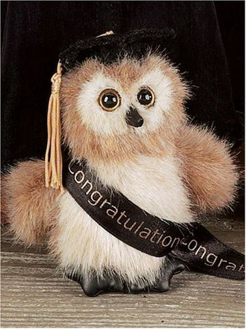Bearington - Wise Owl Graduation Bear 4.5 Inches High and Retired