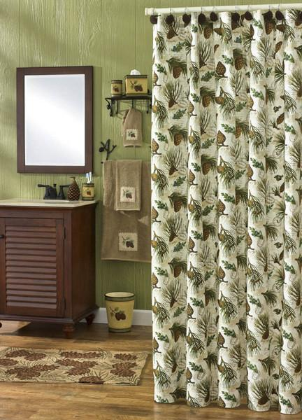 Park Designs Walk in The Woods Shower Curtain, 72 by 72 Inches Free Shipping