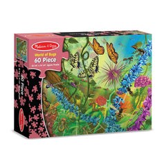 Melissa and Doug - World of Bugs 60 Piece Jigsaw Puzzle Ages 5+ [Home Decor]- Olde Church Emporium