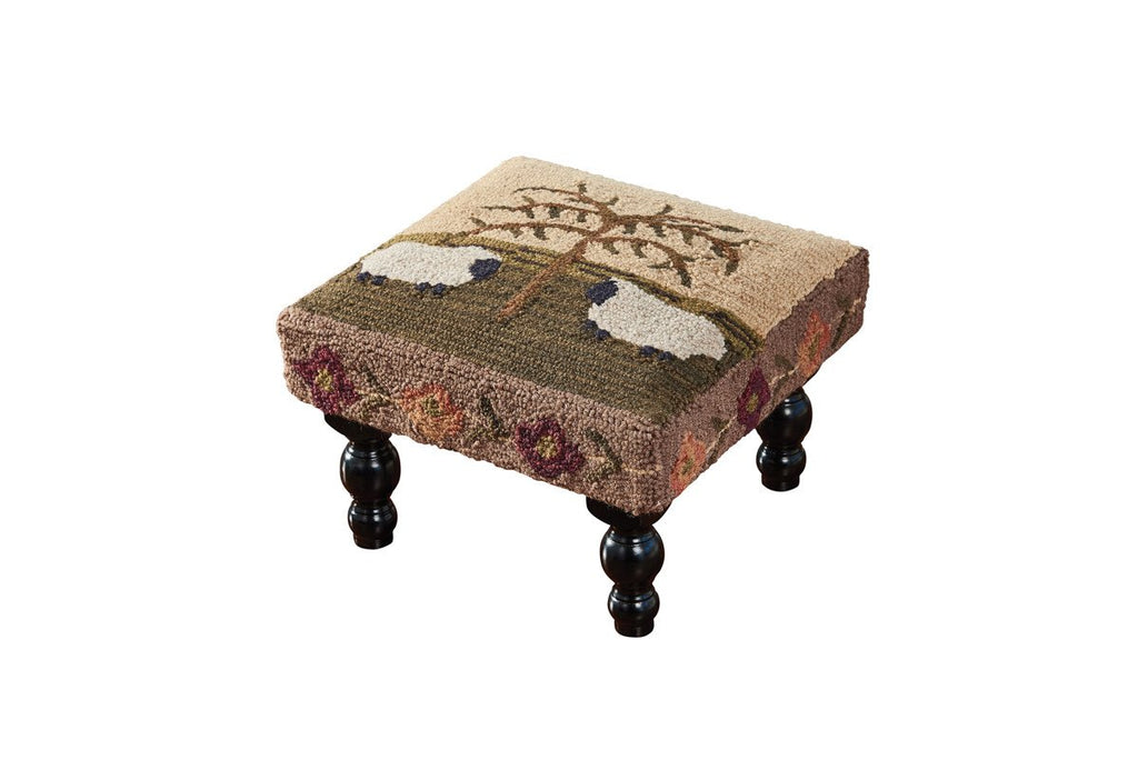 Park Designs Willow & Sheep Hooked Stool