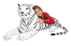 Melissa & Doug - Giant Siberian White Tiger Lifelike Stuffed Animal (over 5 feet long) - Olde Church Emporium