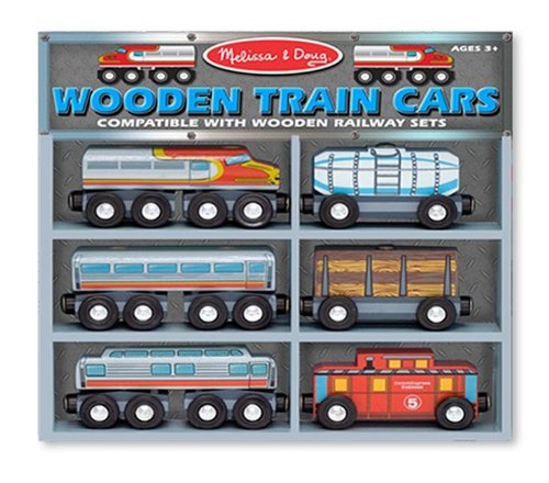 Melissa & Doug - Wooden Train Cars Set [Home Decor]- Olde Church Emporium