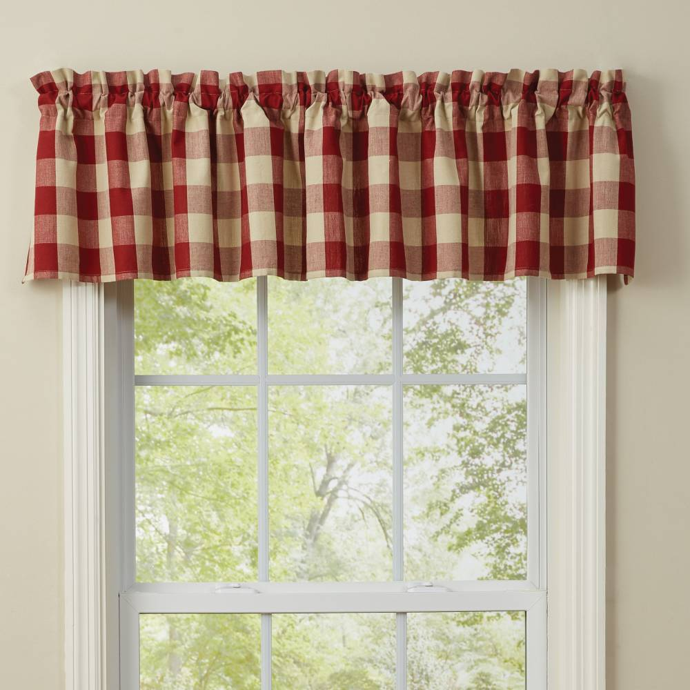 Park Design Wicklow Garnet Valance 72 x 14 Inches Unlined