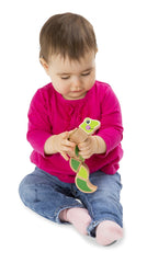 Melissa and Doug - Wooden Wiggling Worm Grasping Baby Toy Ages 6 Months + [Home Decor]- Olde Church Emporium