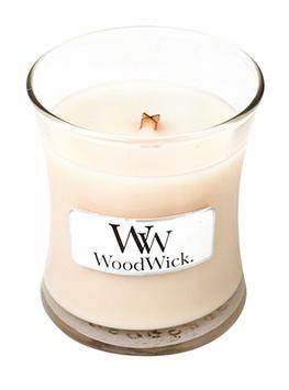 WoodWick Candle - Vanilla Bean - Small 3.4oz Burn Time 40 Hours