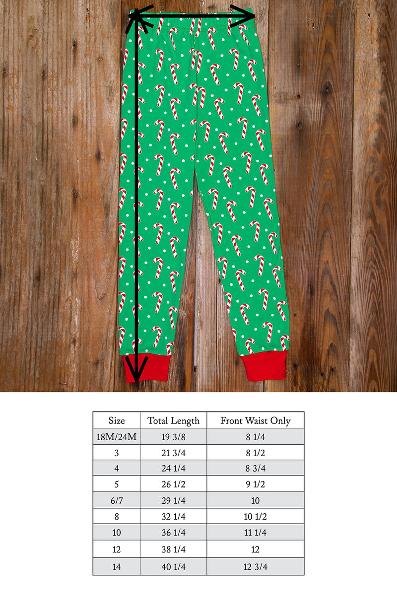 Christmas Eve Carson Candy Cane Pajama Set