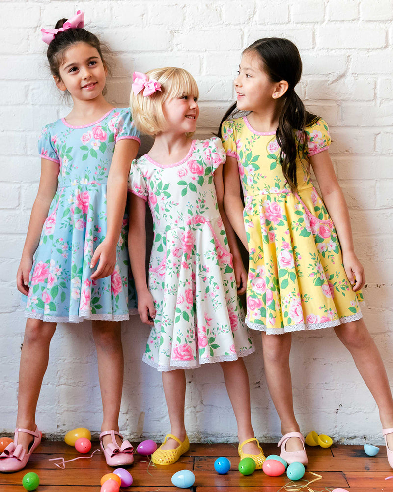 Easter Blooms Yellow Hadley Dress