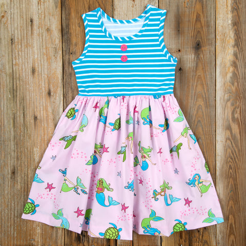 Whimsical Summer Surprise Rhonda Mermaids Dress