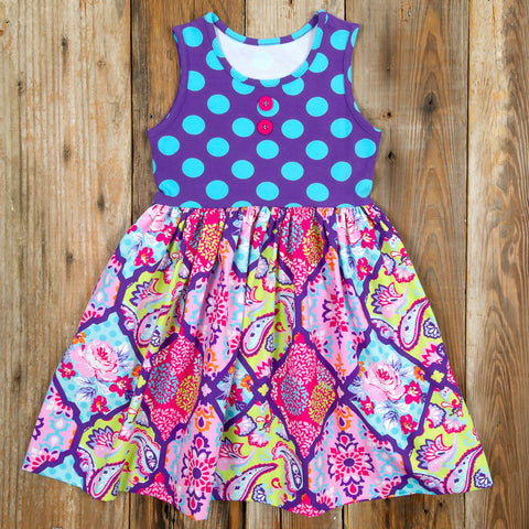 Whimsical Summer Surprise Rhonda Bandana Dress
