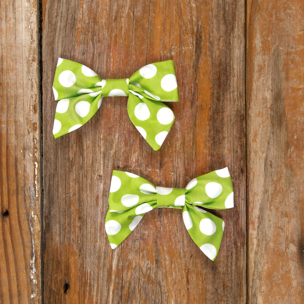 Costume Parade Mindy Green Polka Dot Bows