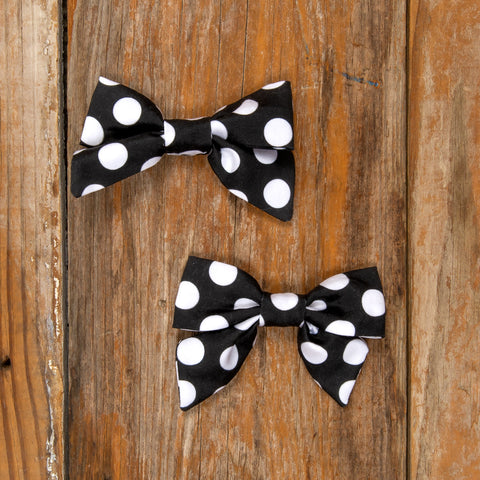 Costume Parade Mindy Black Polka Dot Bows