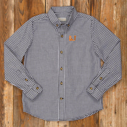 Costume Parade James Black Check Button Down