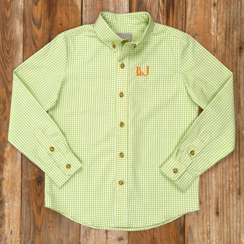 Costume Parade James Green Check Button Down