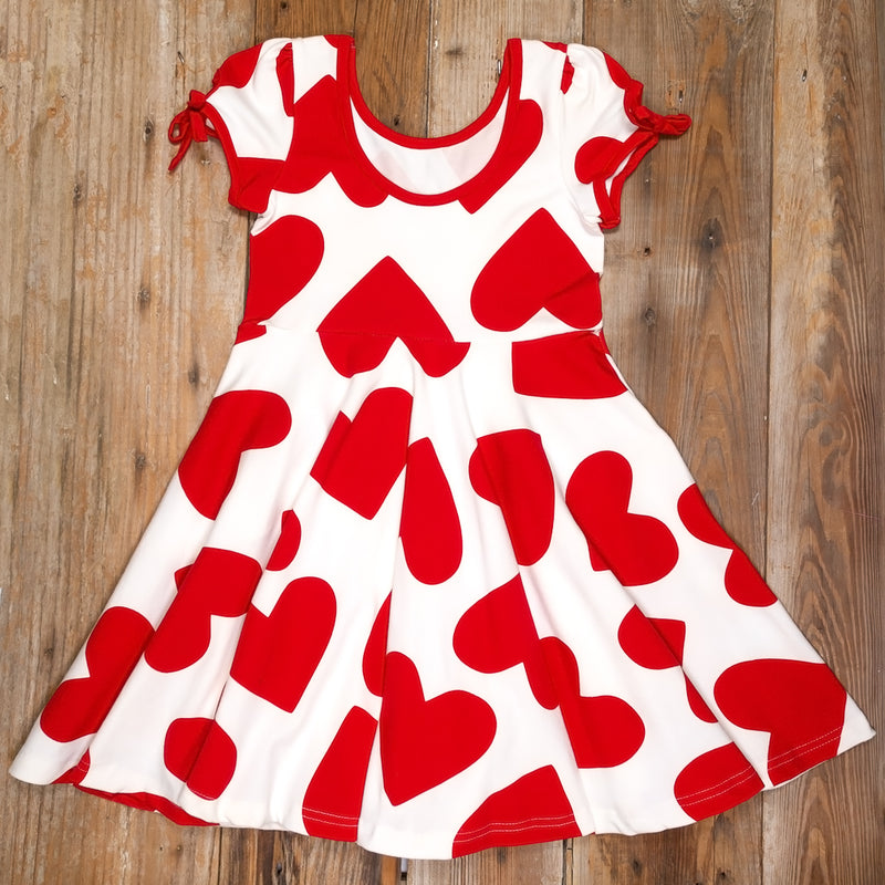 Lovely Surprise Hadley Red Hearts Dress