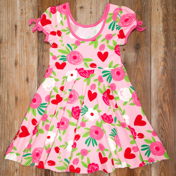 Lovely Surprise Hadley Hearts and Flowers Dress