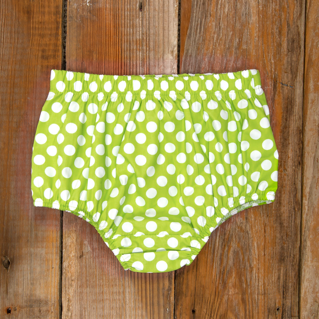 Costume Parade Heidi Green Polka Dot Diaper Cover