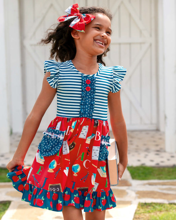 Schoolyard Fun Rhonda Flutter Sleeve Dress