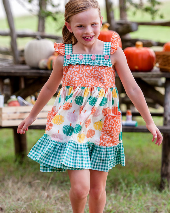 Pumpkin Mix Woven Dress