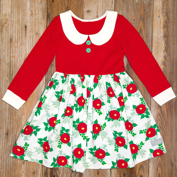 Christmas Roses Patti Dress