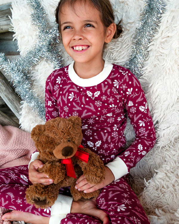 Silent Night Carson Red PJ Set