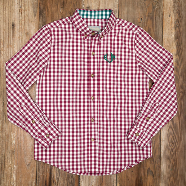 Silent Night James Red Button Down