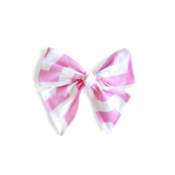 Sweet Chevron Sonni Bow