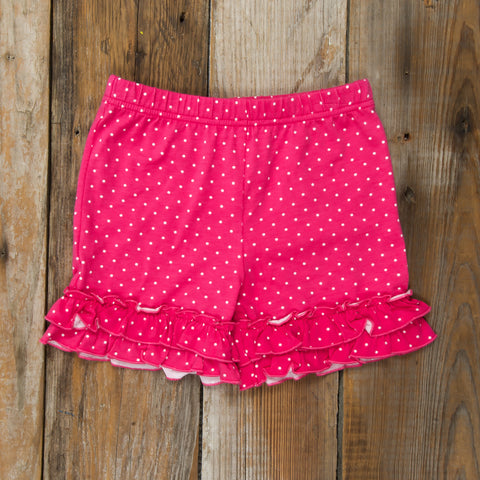 Hugs and Kisses Brailey Ruffle Knit Shorts