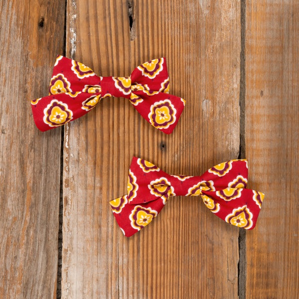 Autumn Rose Mindy Foulard Bow