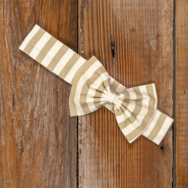 Thanksgiving Day Parade Hope Khaki Stripe Headband