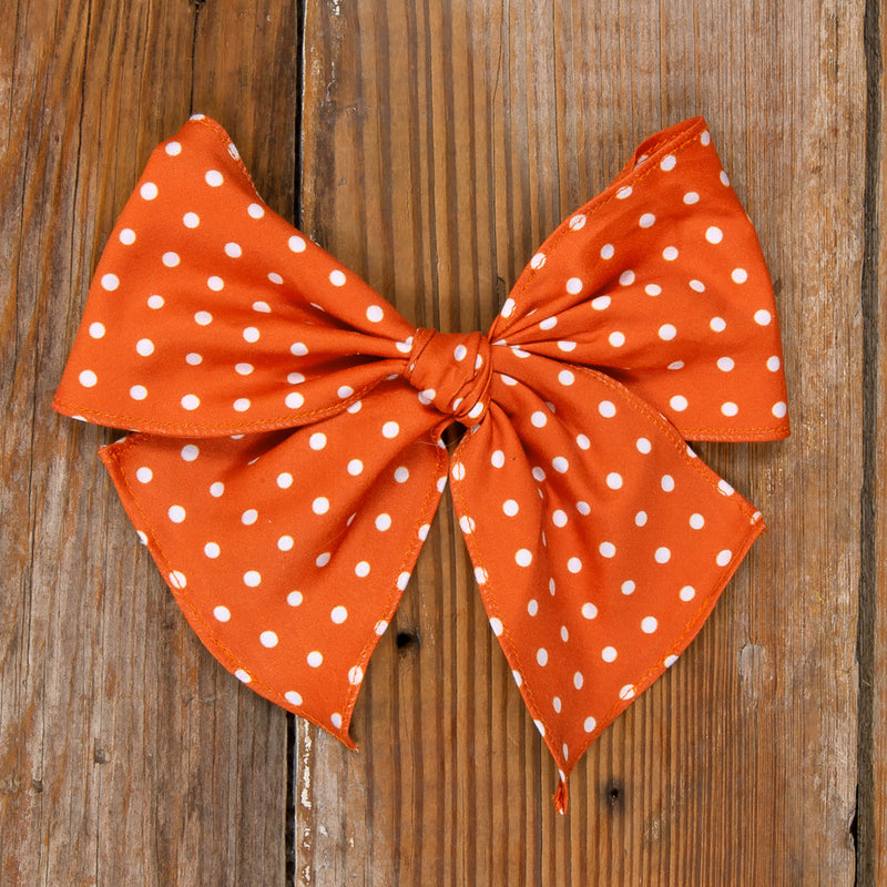 Thanksgiving Day Parade Sonni Orange Dot Bow