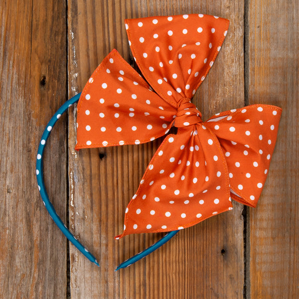 Thanksgiving Day Parade Bea Orange Dot Headband