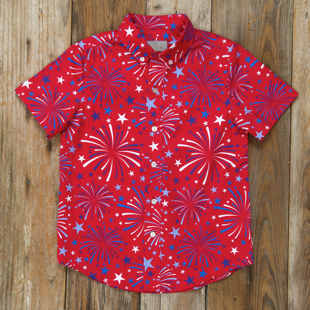 Star-Spangled Fireworks James Button Down Shirt
