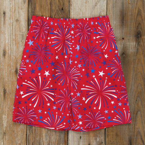 Star-Spangled Fireworks Mason Short