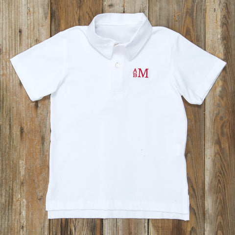 Star-Spangled White Connor Polo