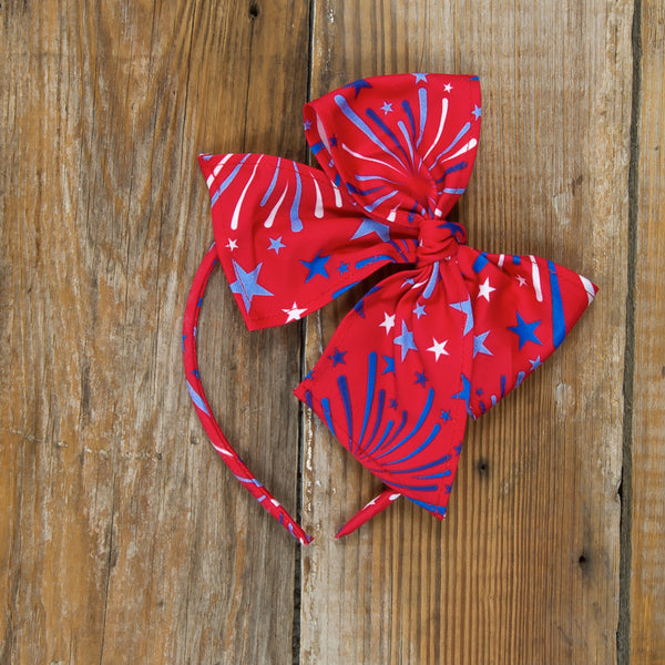 Star-Spangled Fireworks Bea Red Headband