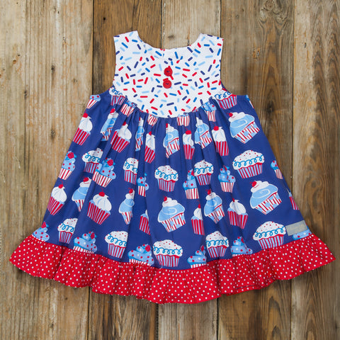 Star-Spangled Cupcakes Gigi Dress