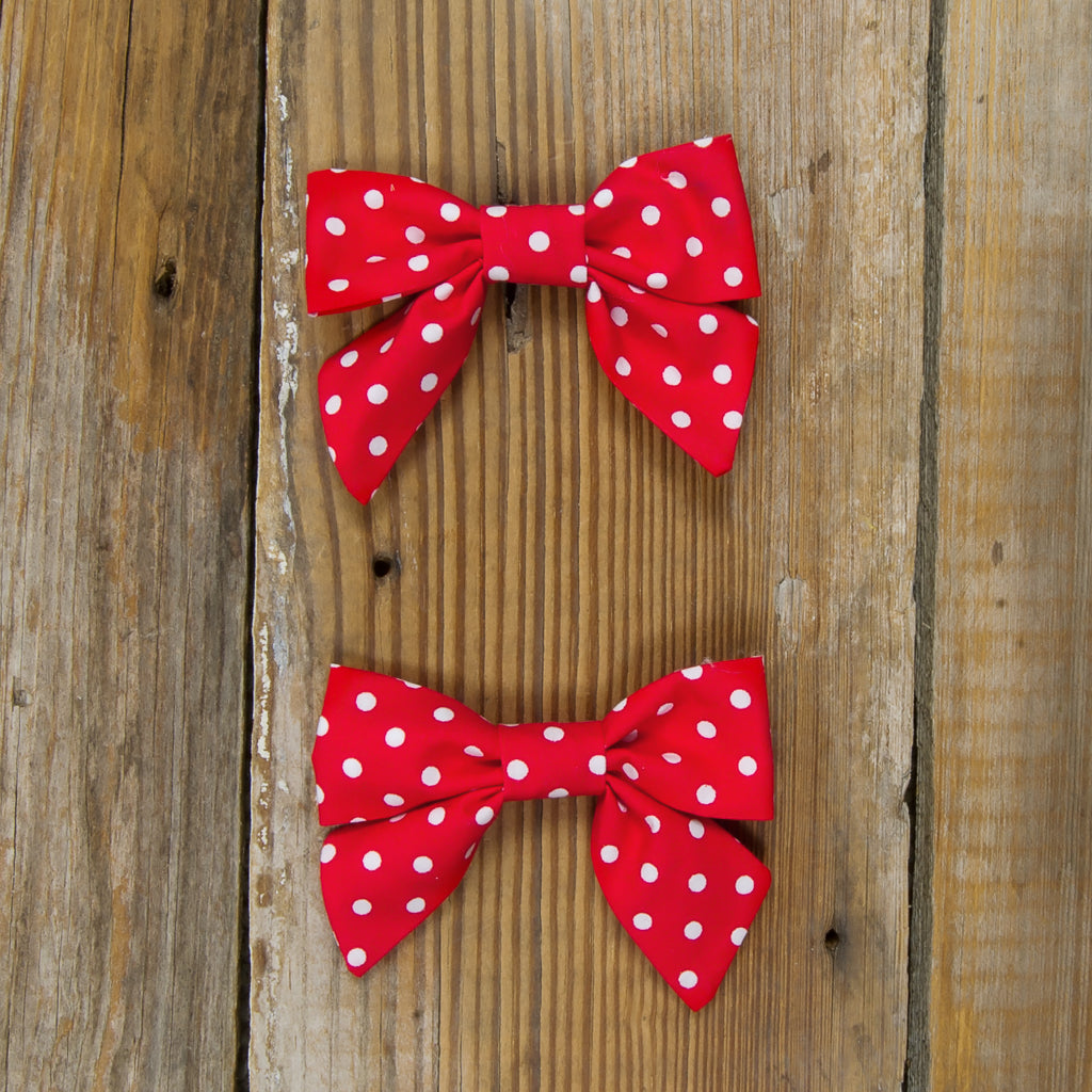 Star-Spangled Red Dot Mindy Bows