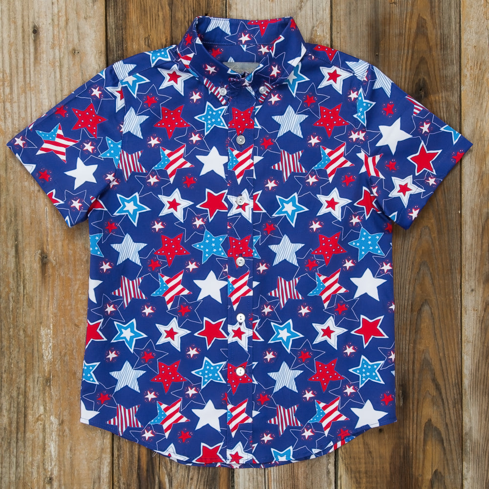 Star-Spangled Stars James Button Down
