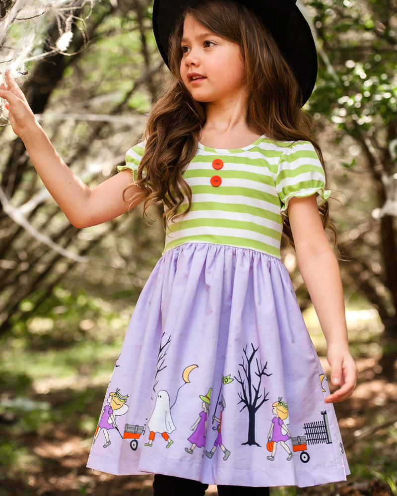 Costume Parade Rhonda Stripe Short Sleeve Dress