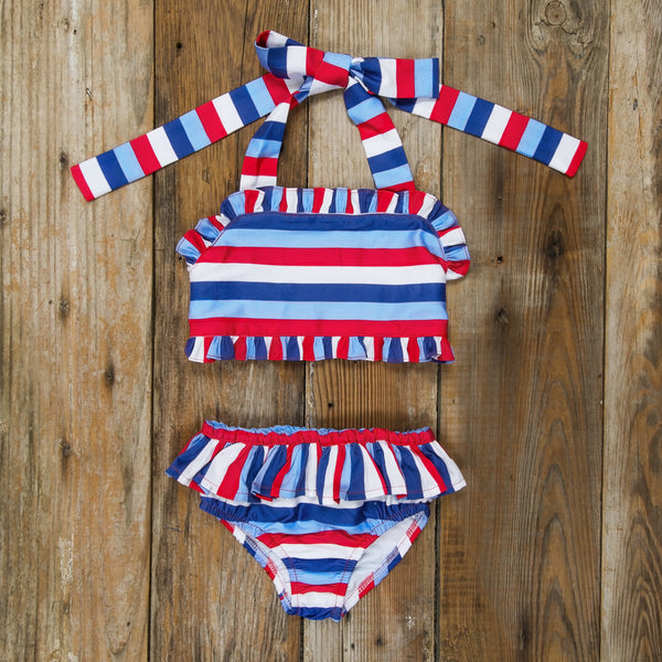Star-Spangled Stripes Dana Bikini Set