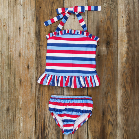Star-Spangled Stripes Liliana Tankini Set