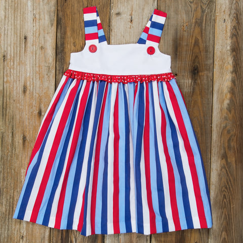 Star-Spangled Stripes Clementine Dress
