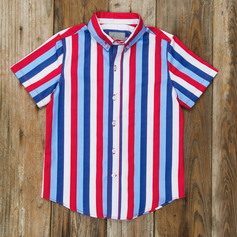Star-Spangled Stripes James Button Down