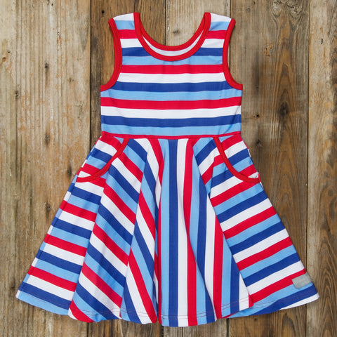 Star-Spangled Stripes Andrea Dress