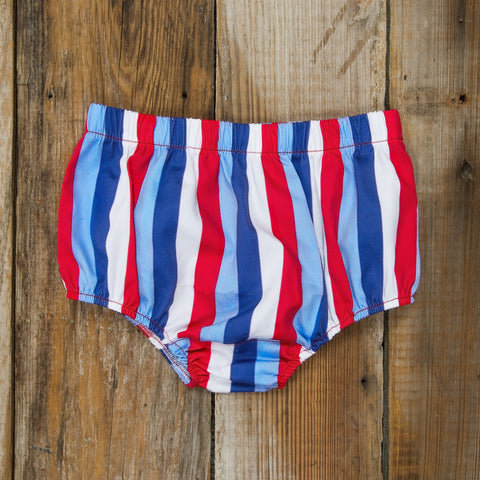 Star-Spangled Stripes Heidi Diaper Cover