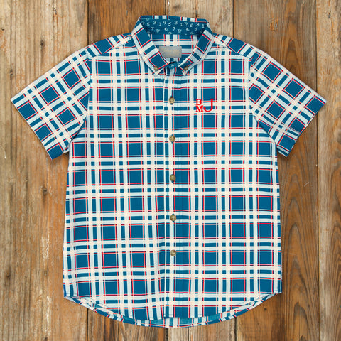Schoolyard Fun James Plaid Camp Shirt
