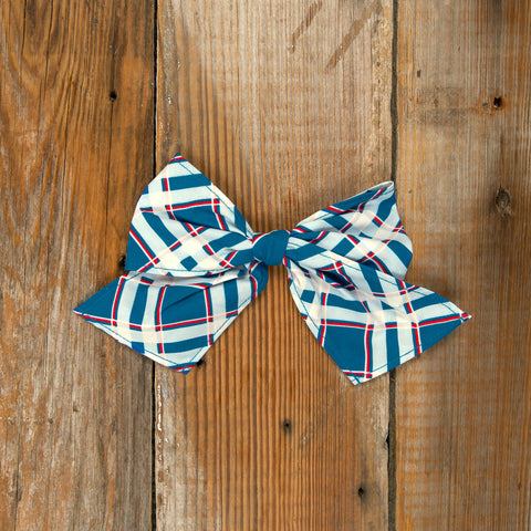 Schoolyard Fun Sonni Plaid Bow