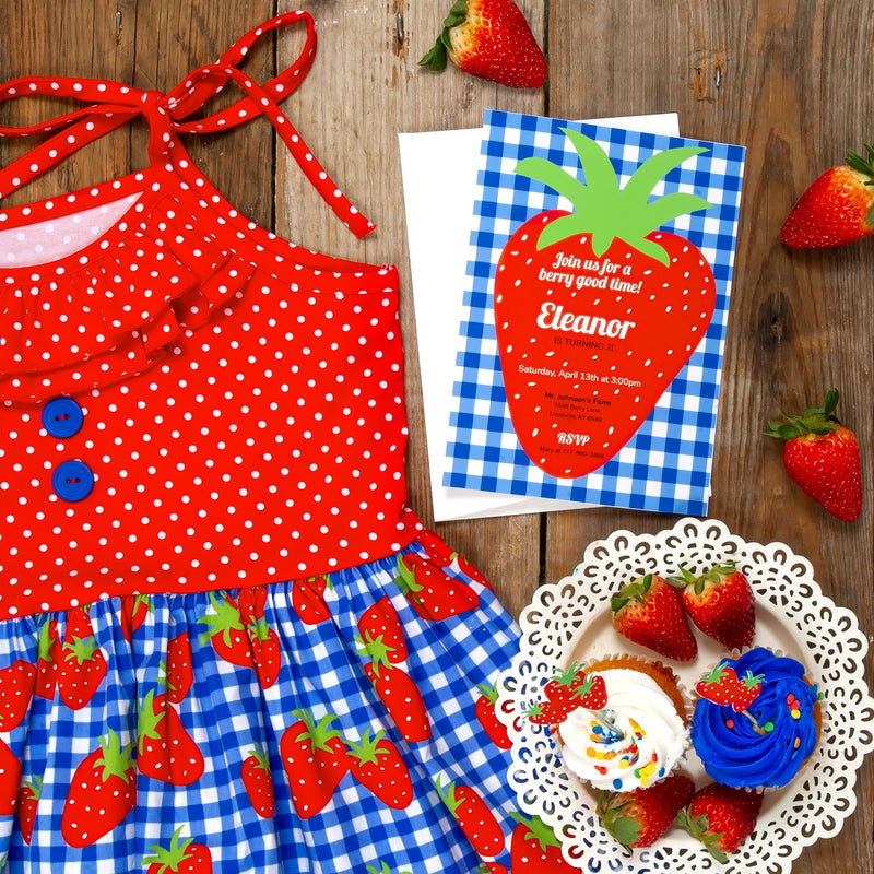 Strawberry Fields Party Printable Package