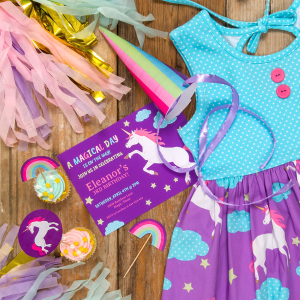 Unicorn Magic Party Printable Package