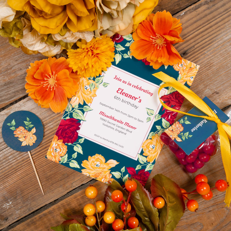 Autumn Rose Party Printable